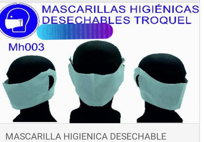 Máscarillas Desechables higiénicas hidrosolubles biodegradables